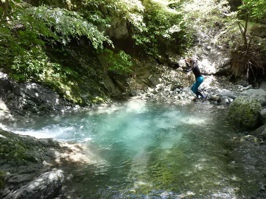シャワークライミング 丹沢 神奈川